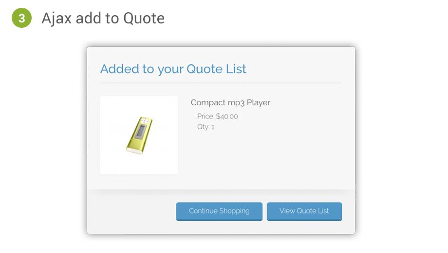 Magento Quotation Methods Cart2Quote Option 3