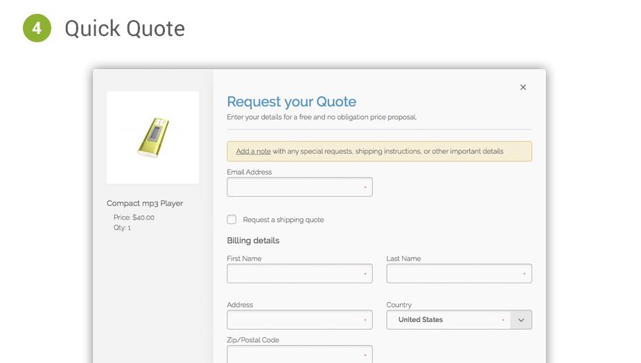 Magento Quotation Methods Cart2Quote Option 4