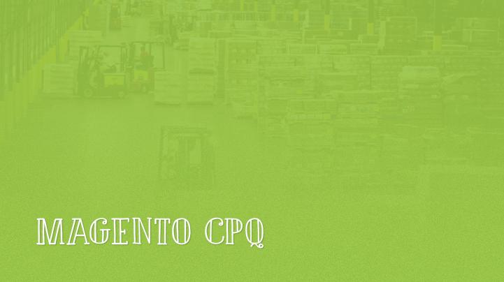 Magento CPQ Configure Price Quote